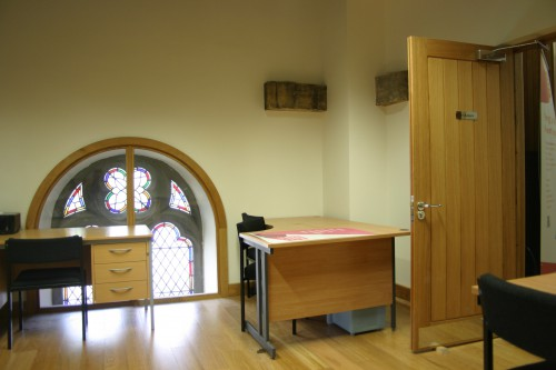 The interior of our St Aidan room.