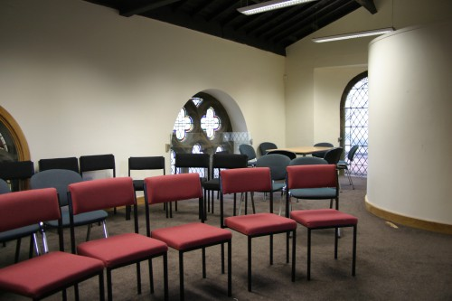 The interior of our St Bede room.